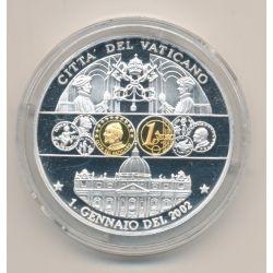 Médaille - Vatican - 1 janvier 2002 - 1ère émission de l'euro