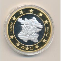 Médaille - Europe - France et coq - 2013 - essai