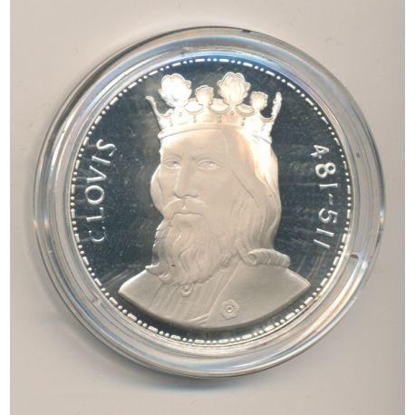 Médaille - Clovis - Les Rois de France - argent belle épreuve