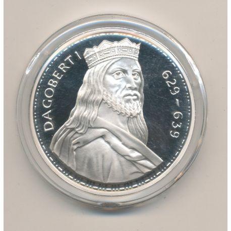 Médaille - Dagobert 1er - Les Rois de France - argent belle épreuve
