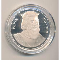 Médaille - Pepin le bref - Les Rois de France - argent belle épreuve