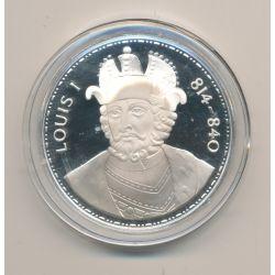 Médaille - Louis 1er - Les Rois de France - argent belle épreuve