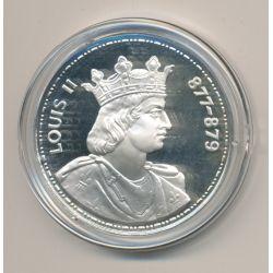 Médaille - Louis II - Les Rois de France - argent belle épreuve