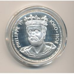 Médaille - Philippe 1er - Les Rois de France - argent belle épreuve