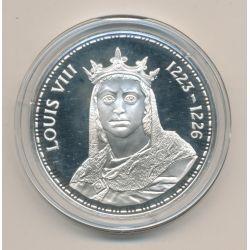 Médaille - Louis VIII - Les Rois de France - argent belle épreuve