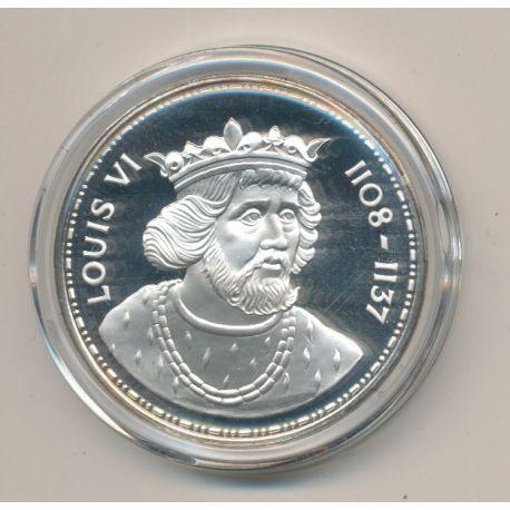 Médaille - Louis VI - Les Rois de France - argent belle épreuve