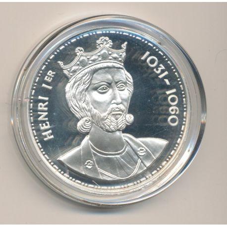 Médaille - Henri 1er - Les Rois de France - argent belle épreuve