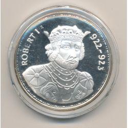 Médaille - Robert 1er - Les Rois de France - argent belle épreuve