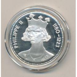 Médaille - Philippe II - Les Rois de France - argent belle épreuve
