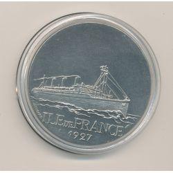 Médaille - Ile de France 1927 - Paquebots Transatlantiques