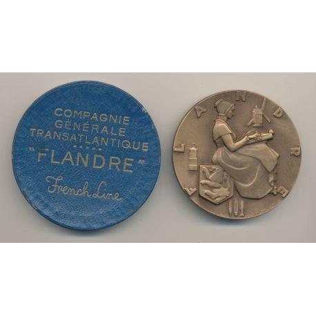 Médaille - Paquebot Flandre - Compagnie générale transatlantique - french line