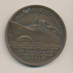 Médaille - Paquebot Normandie 1935 - Compagnie générale transatlantique - french line