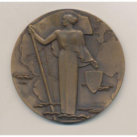 Médaille - Compagnie générale transatlantique - 1855/1955 - french line