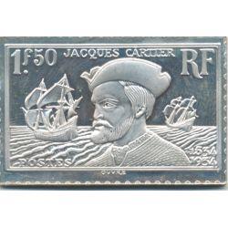Timbre en argent - 1F50 Jacques Cartier 1934/1983