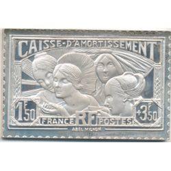 Timbre en argent - 1F50 Provinces Françaises - 1931/1983