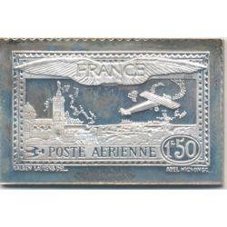 Timbre en argent - 1F50 - Exposition aéro postale de Paris - 1930/1983