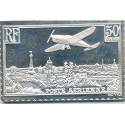 Timbre en argent - 50 Francs Vue de paris - 1936/1983
