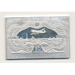 Timbre en argent - 50 Francs Vue de Paris Burele - 1936/1983