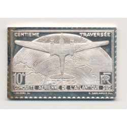 Timbre en argent - 10 Francs - Traversée de l'atlantique sud - 1936/1983