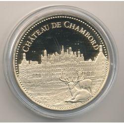 Médaille - Château de chambord - Trésor patrimoine de France
