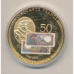Médaille - 50 Francs Jacques Coeur 1941 - Anciens Francs