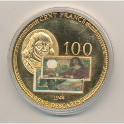 Médaille - 100 Francs Descartes 1944  - Anciens Francs