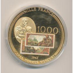 Médaille - 1000 Francs Demeter 1942 - Anciens Francs