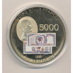 Médaille - 5000 Francs Victoire 1939 - Anciens Francs