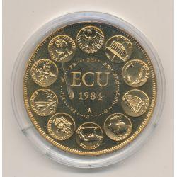 Ecu EUROPA - 1984 - bronze