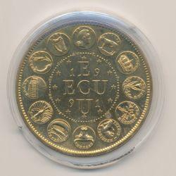 Ecu EUROPA - 1991 - bronze