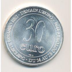 30 Euro - 1996 - Demain l'euro - argent