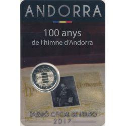 2€ Andorre 2017 - 100 ans de l'Hymne d'Andorre