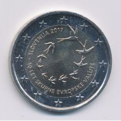 2€ Slovénie 2017 - 10ans euro en Slovénie