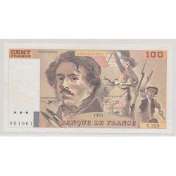 100 Francs Delacroix - 1993 - Uniface - 001061 - S.223