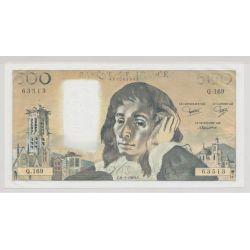 500 Francs Pascal - 1983 - manque encre noire - 63513 - Q.169