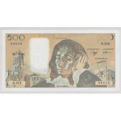 500 Francs Pascal - 1990 - manque encre noire - 98036 - O.312