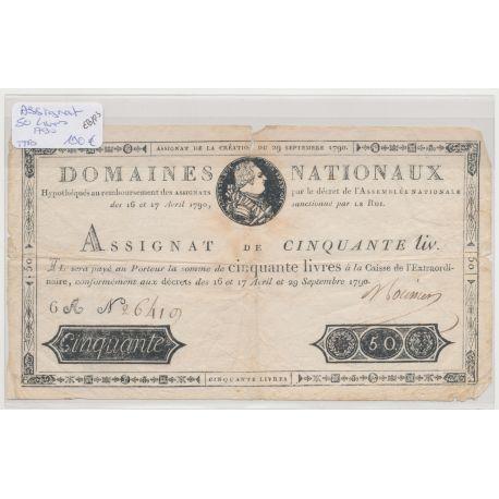 Assignat 50 Livres - Louis XVI - 50 Livres 1790
