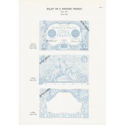 Planche - Billet 5 Francs Bleu - Type 1871