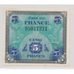 5 Francs Drapeau - 1944 - sans série