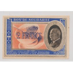 Bon de solidarité - 2 Francs Pétain