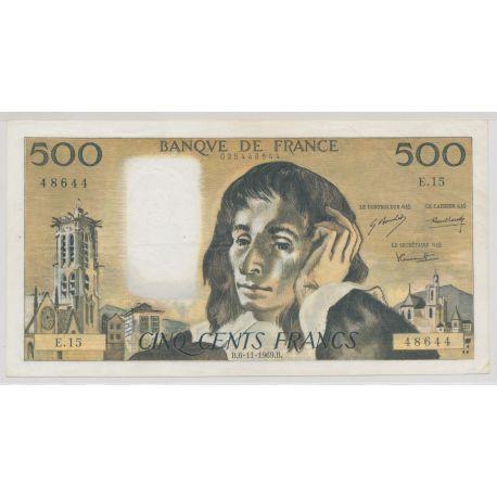 500 Francs Pascal - 6.11.1969 - E.15