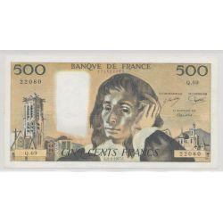 500 Francs Pascal - 3.02.1977 - Q.69