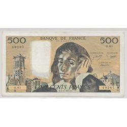 500 Francs Pascal - 3.11.1977