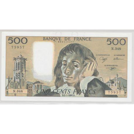 500 Francs Pascal - 2.05.1991 - N.348