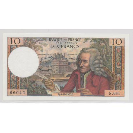 10 Francs Voltaire - 5.11.1970 - N.641 - SPL