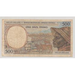Afrique centrale - 500 Francs - E - TB