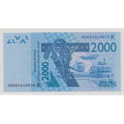 Afrique de l'ouest - 2000 Francs - 2003 - K - NEUF