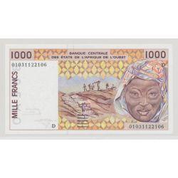 Afrique de l'ouest - 1000 Francs - D - Mali - NEUF