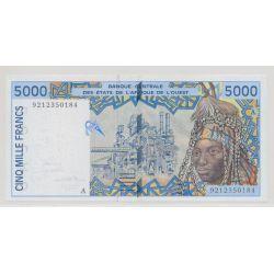 Afrique de l'ouest - 5000 Francs - 1992 A Cote d'ivoire - NEUF