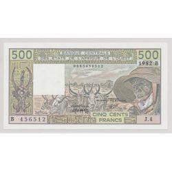 Afrique de l'ouest - 500 Francs - 1982 B Bénin - NEUF